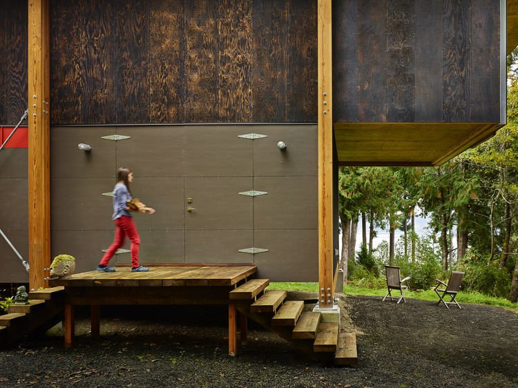 he house features materials, cabinetry, and plants salvaged from homes slated to be demolished.   Scavenger Studio by Dwell