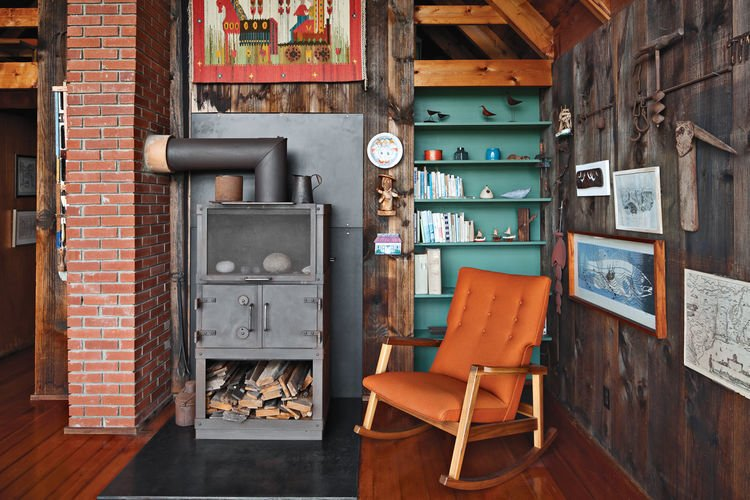 Rinsom Residence Interior Firestove   Risom Residence by Dwell