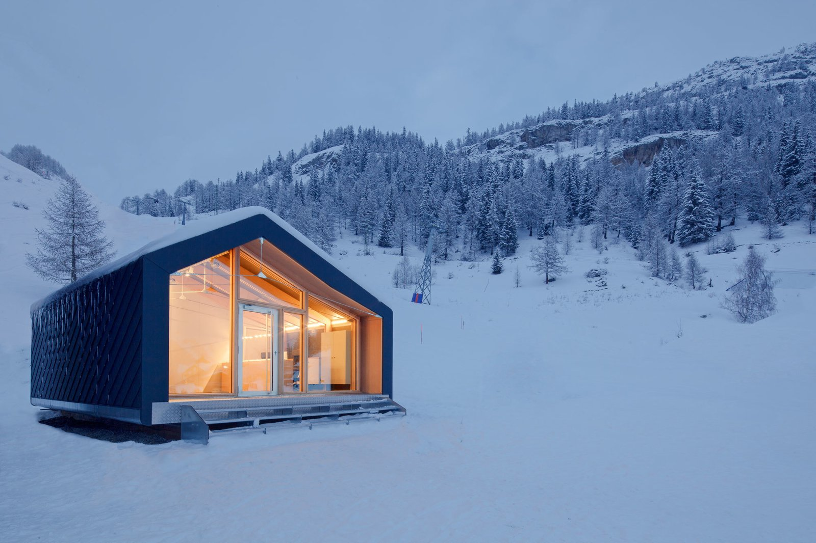 #prefab #house #modern #architecture #cabin #snow #smallspaces  Tagged: Exterior, Cabin Building Type, and House.  Photo 44 of 101 in 101 Best Modern Cabins from Outdoors