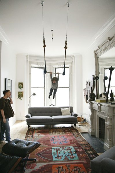#livingrooms #trapeze #Turkishrug #Eames #lounge #chair #roomandboard  #light #Victorian #SanFrancisco