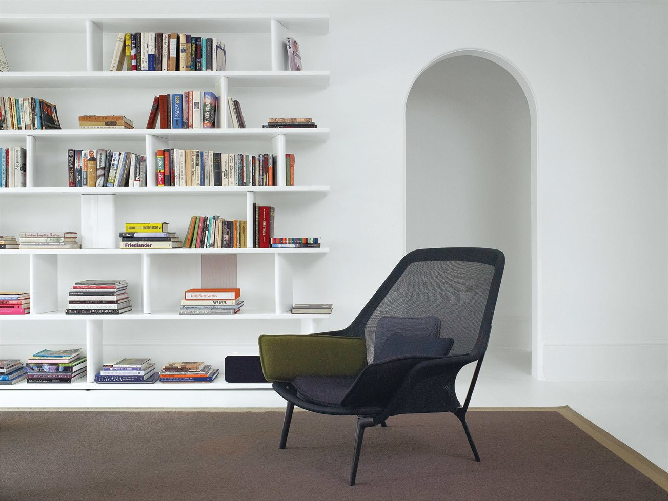#seatingdesign #Slowchair #steel #bookcase #powder-coated #minimal #aesthetic #HillRenovation #BarbaraHill  100+ Best Modern Seating Designs by Dwell