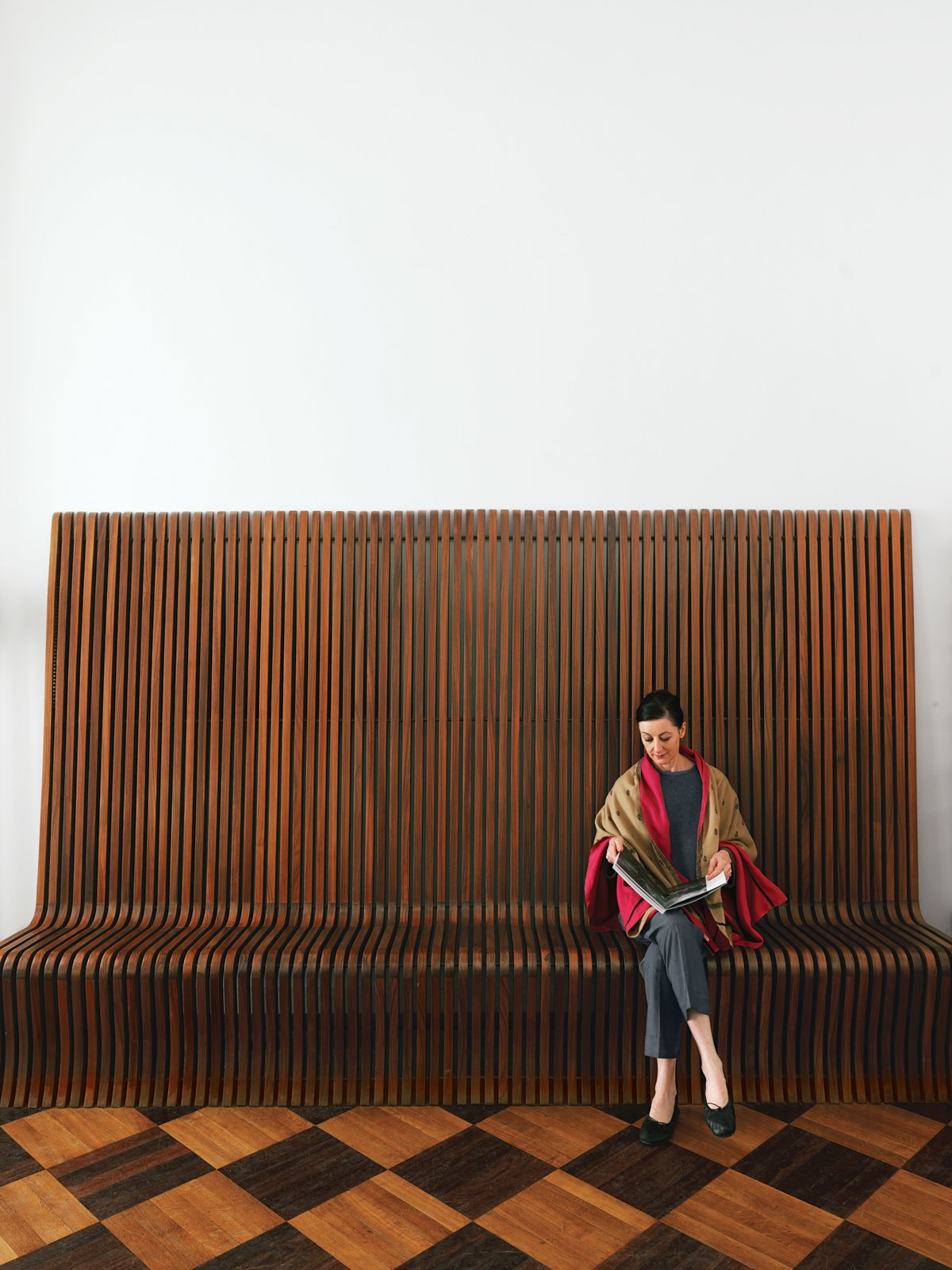 #seatingdesign #vintage #rosewood #bench #RichardSeifert #Brussels #mansion