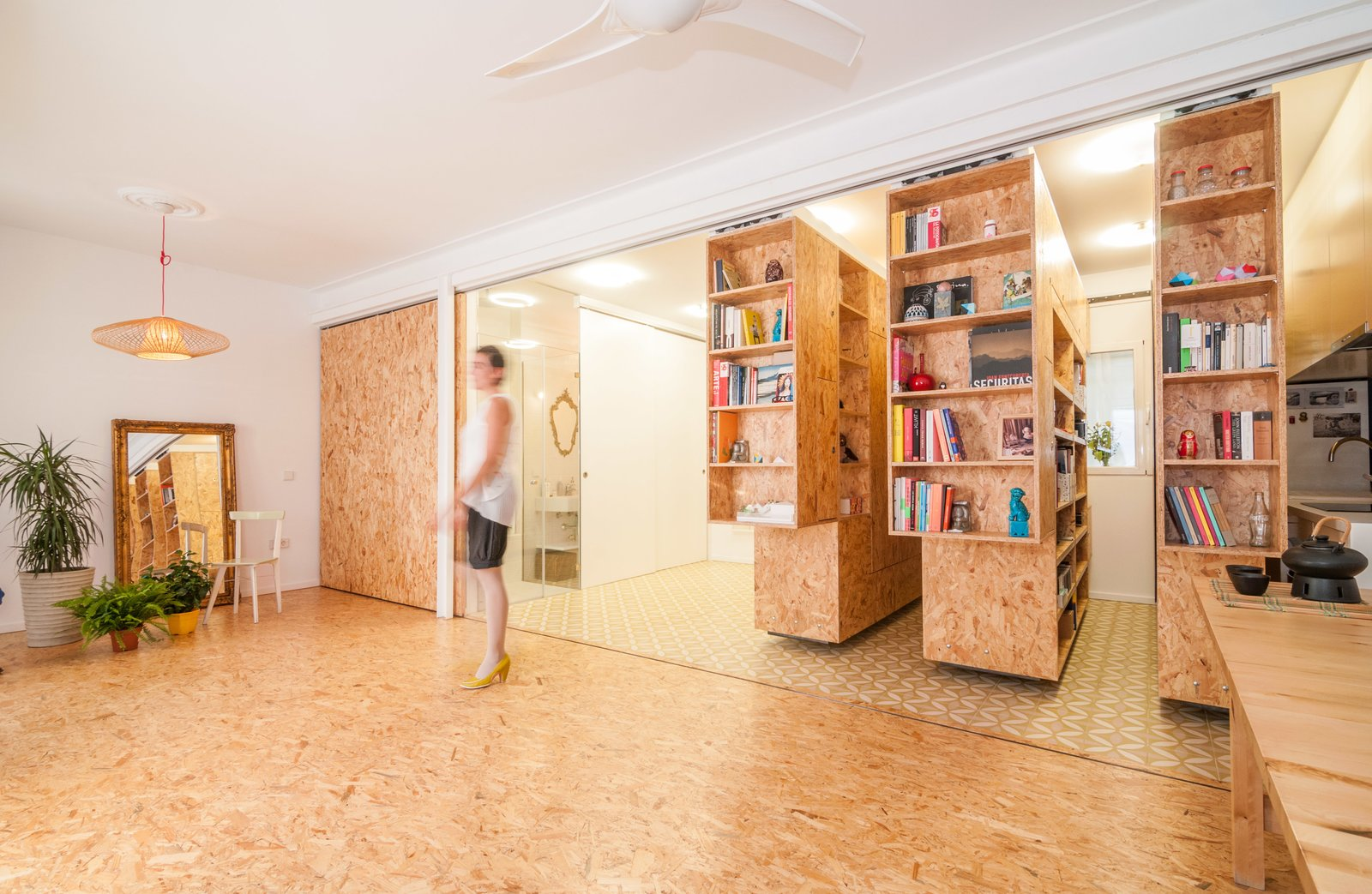 #interior #indoor #inside #particleboard #shelving #storage #smallspaces #modern #tracksystem #bookcase #bookshelf #slidingshelves   Tagged: Storage Room and Shelves Storage Type.  Best Photos from 7 Surprising Shelving Ideas For the Creative Organizer
