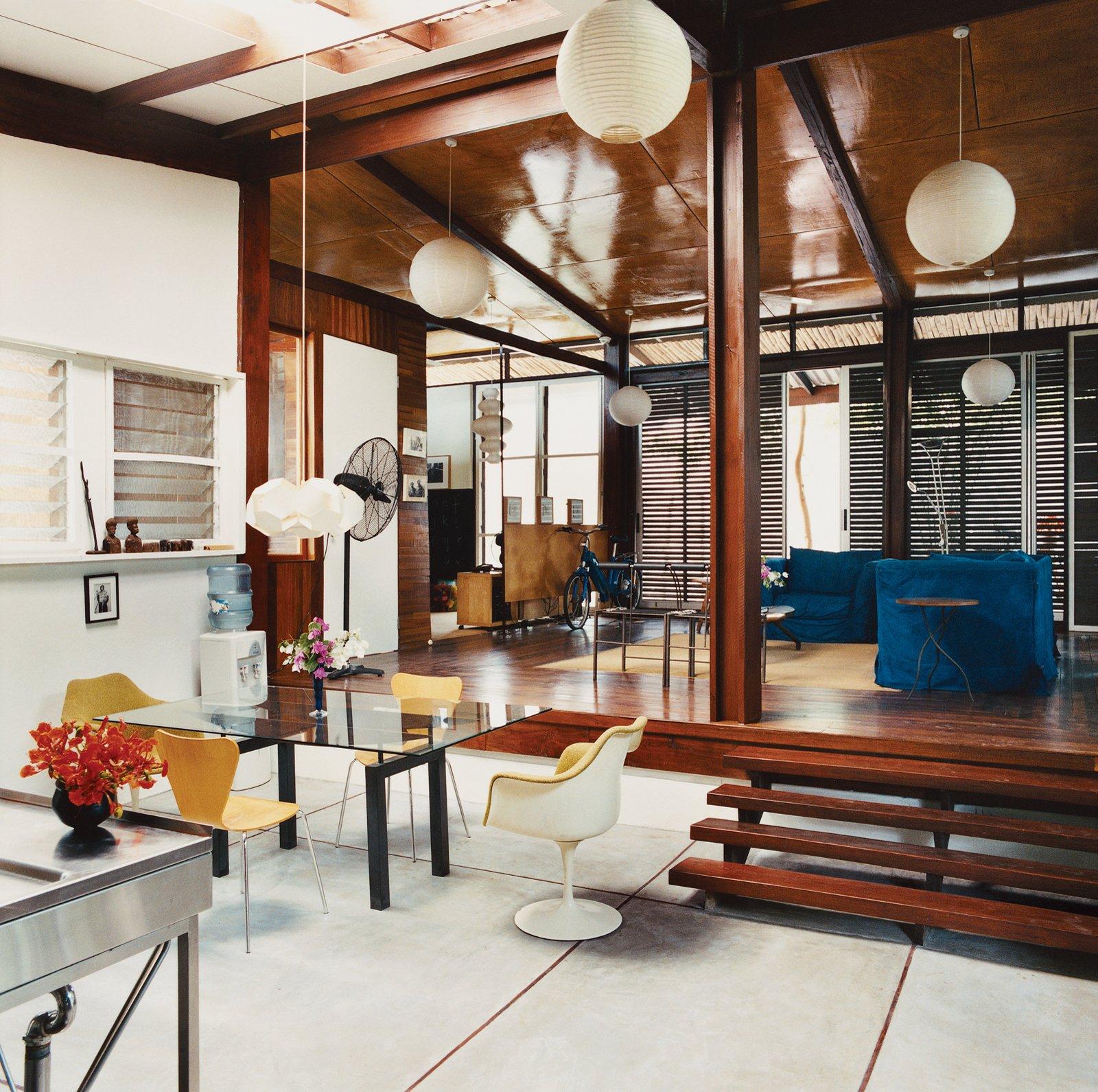 #diningroom #livingroom #lighting #interior #modern #openfloorplan #glasstable #woodfloor  60+ Modern Lighting Solutions by Dwell