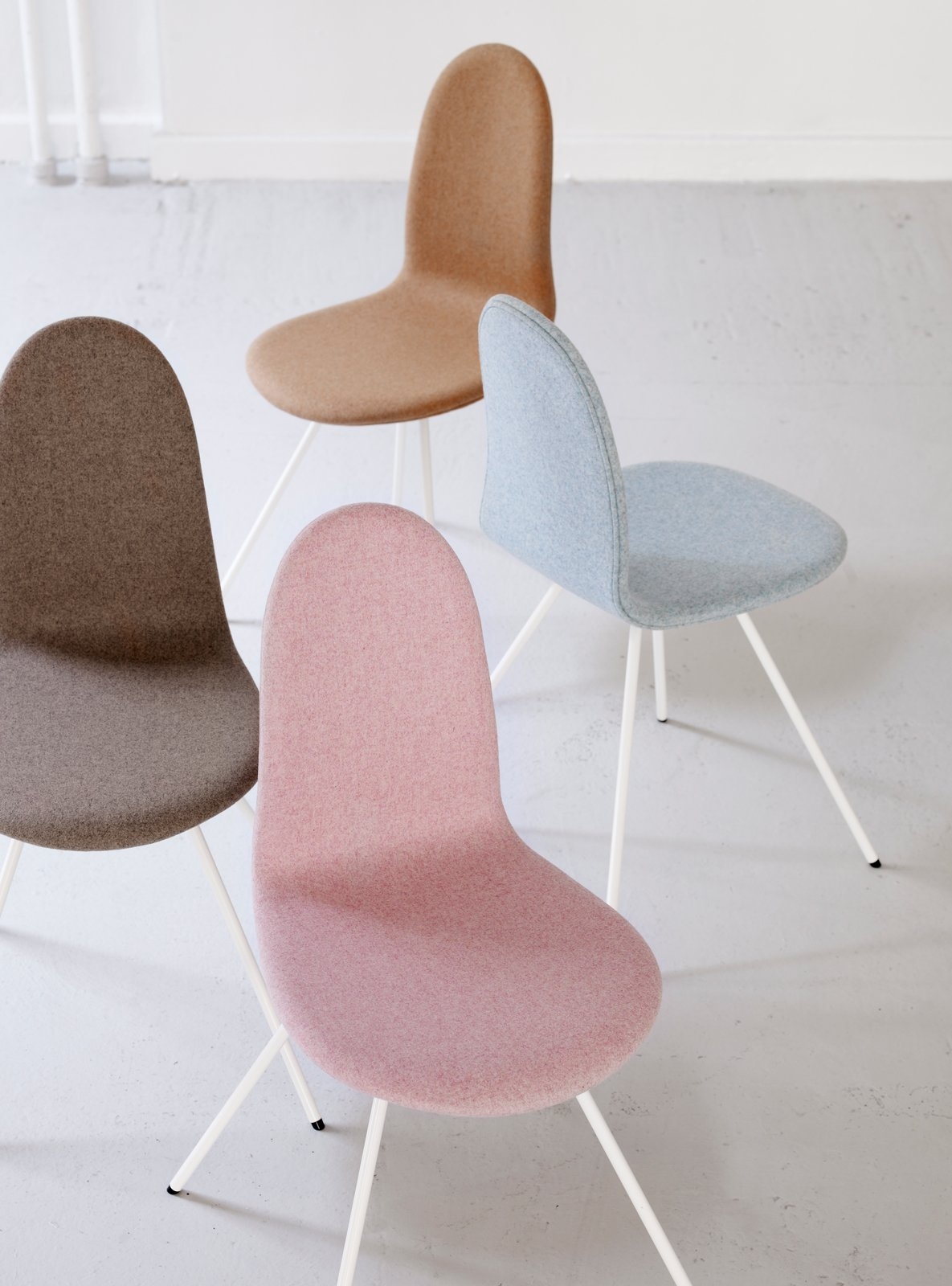 #interior #modern #inside #design #interiordesign #chairs #minimal #fabricchair #pink #mintblue #ochre #sand #tonguechair #arnejacobsen #seatingdesign #seating  100+ Best Modern Seating Designs by Dwell