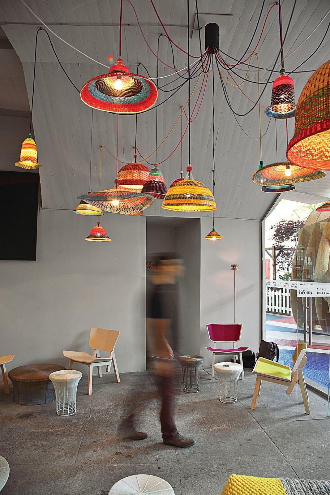 #lightingdesign #lighting #Columbia #lamps #Madrid #Spain #Spanish #AlvaroCatalandeOcon #furniture #designer #coffeetable #chair #concrete #indoor #interior #inside #PETlamp #weaving #green #ecofriendly 60+ Modern Lighting Solutions by Dwell