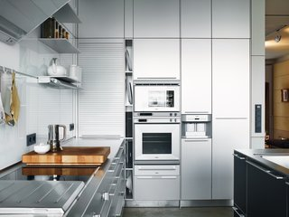 "A Rational Approach - Photo 2 of 16 - The stainless steel Bulthaup kitchen ""cost as much as a small house,"" said Spiekermann, though he did get a discount: Bulthaup is one of his clients."