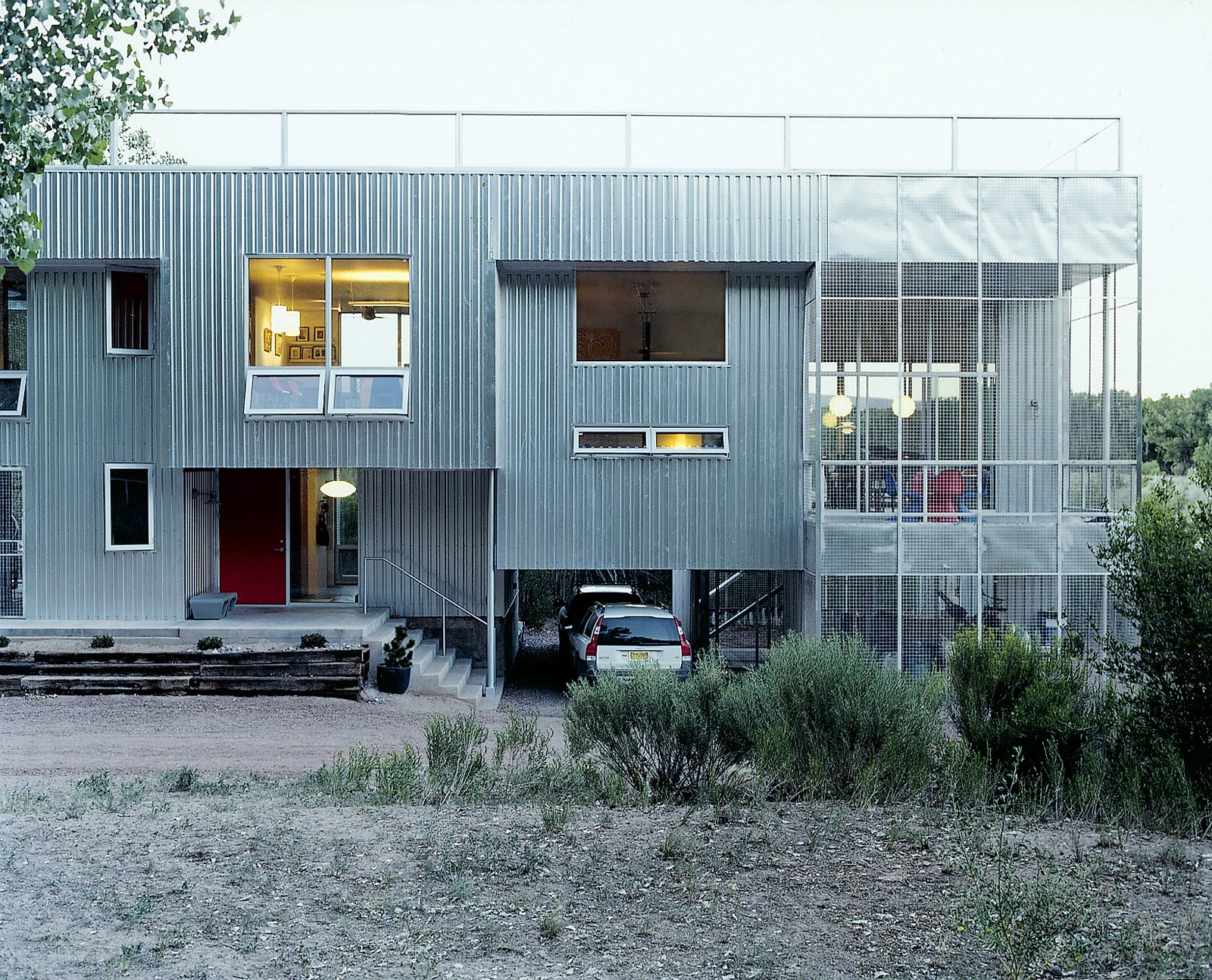 Thanks to passive solar and radiant floors, the metal-clad home is comfortable year-round.