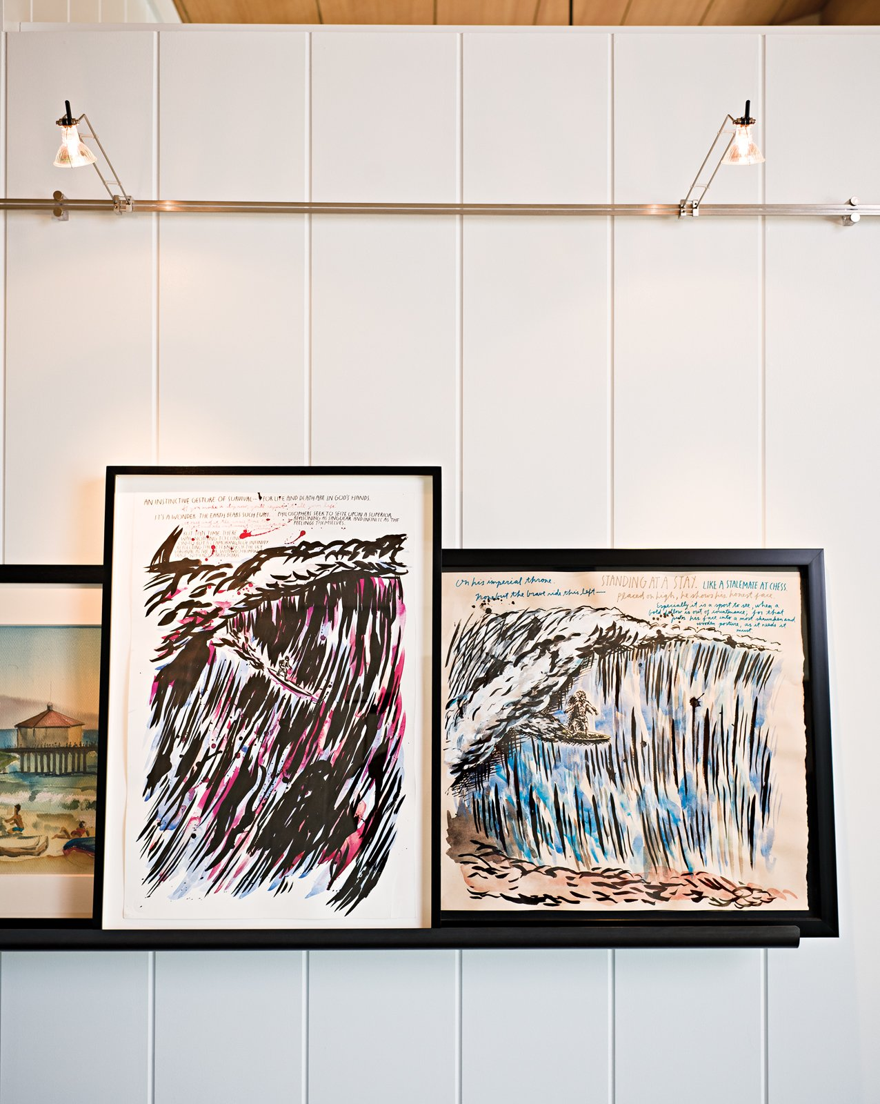 Jacobson, a goofy foot, prizes his Raymond Pettibon lefts more than anything.  Photo 7 of 18 in Less is More in this Manhattan Beach Bungalow