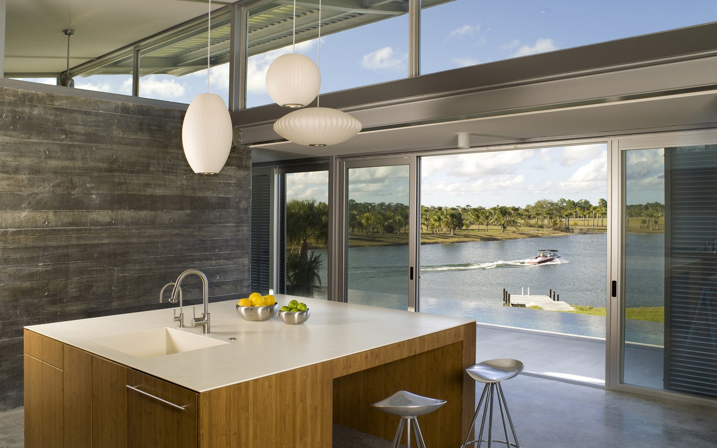 Photo via Hughesumbanhowar Architects Tagged: Kitchen, White Cabinet, and Pendant Lighting.  Photo 7 of 9 in Ski for All