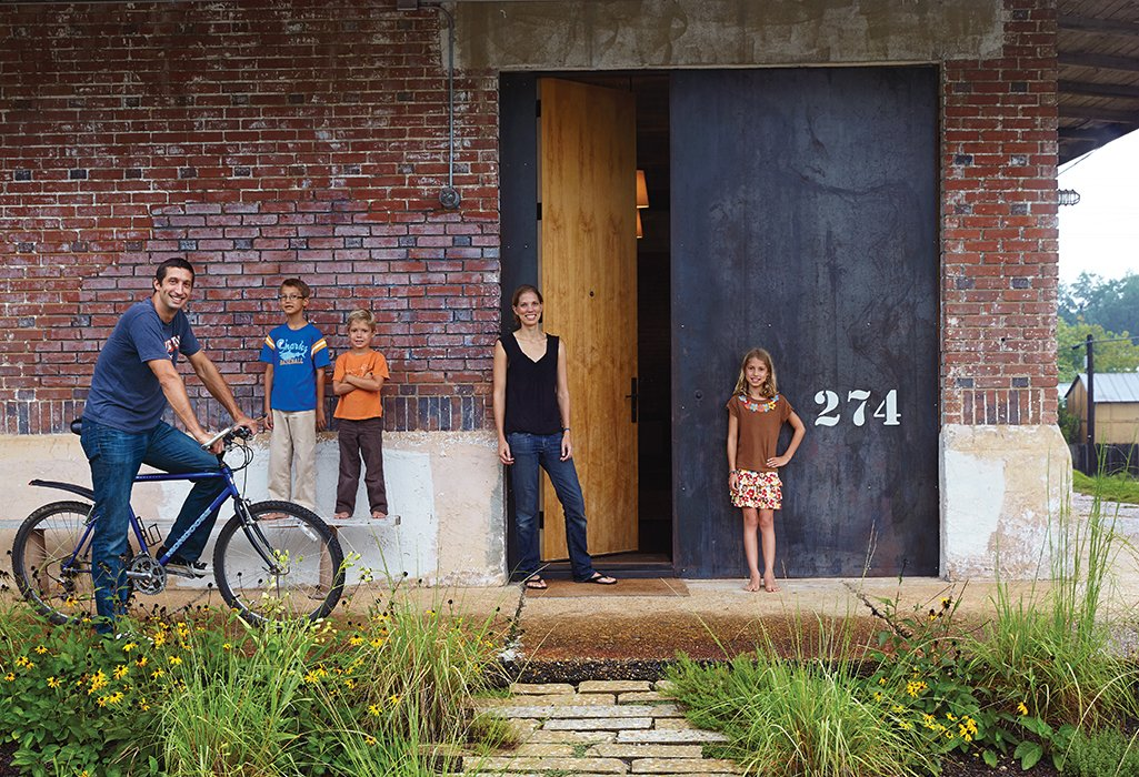 Architect David Hill, his wife, Elizabeth, and their three children (from left: Wade, eight, Luke, six, and Breyton, ten), have an unusual home by the standards of their college-town setting in Auburn, Alabama. Built in 1920, the industrial brick building has had previous incarnations as a church, a recycling center, and a pool hall, among others. 20+ Modern Warehouse and Garages Conversions by Zachary Edelson