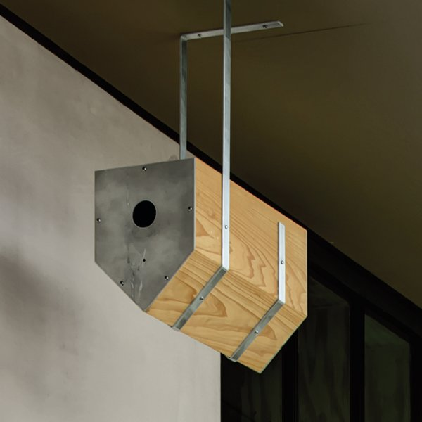 Jason David Smith, a young architect working for Levy at the time, made birdhouses for local screech owls and purple martins.