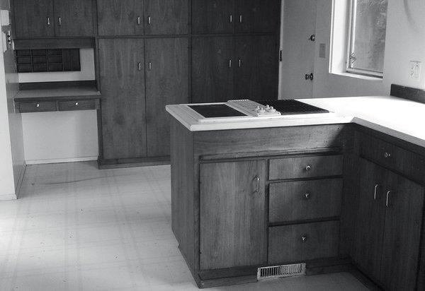 The original midcentury kitchen was dark and disconnected.