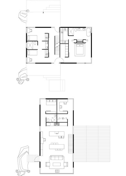 Dwell sustainable retreat on a fire devastated site in for Dwell floor plans