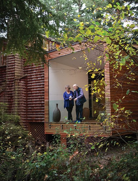"The addition, which includes a bedroom and a bathroom, also boasts an enclosed deck, a feature recommended for those with Alzheimer's. ""Ken used to do the landscaping here,"" says Wibowo. ""He also put many of the shingles on the original house."""