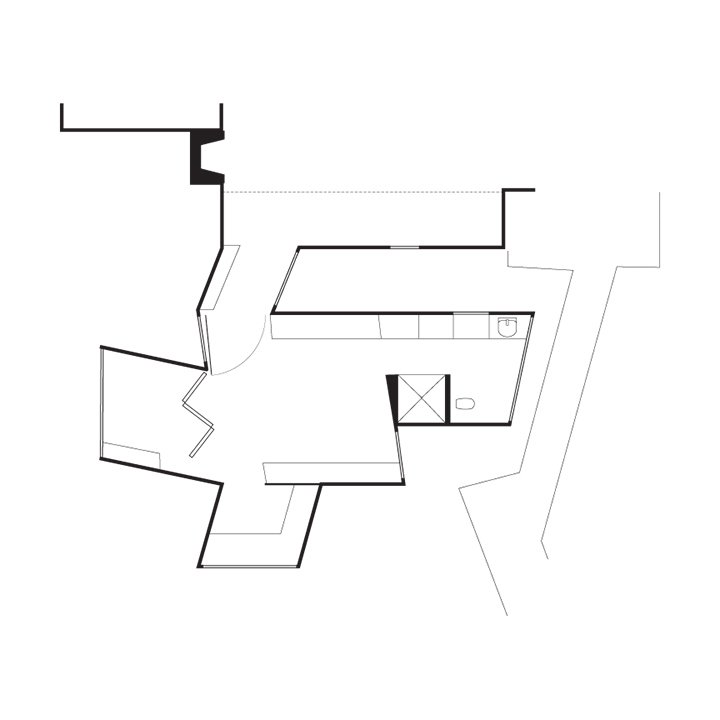 Stevens Addition Floor Plan  A    Existing Entry  B    Existing Living Room  C    Bridge Connector  D    Bedroom  E    Bathroom  F    Study  G    Enclosed Deck  Photo 7 of 9 in Designing a Home to Accommodate Alzheimer's