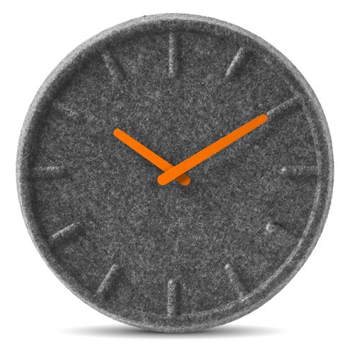 Felt clock by Sebastian Herkner for Leff Amsterdam.