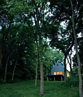 20 Modern Homes From the Midwest - Photo 14 of 20 - Lauren Ewing's stylish but unassuming shotgun-style house in Vincennes, Indiana, is set into a hill overlooking a field she has known since childhood.