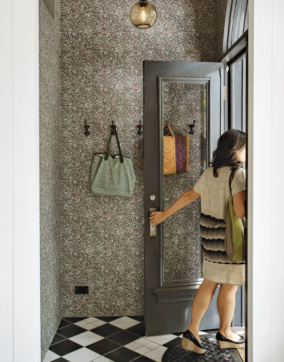 Saving on the floor tiles meant that Casale and Crofton could spring for hand-finished wallpaper by Swedish company Sandberg. Photo by Matthew Williams.  Photo 38 of 42 in Wallpaper That Fixes Walls