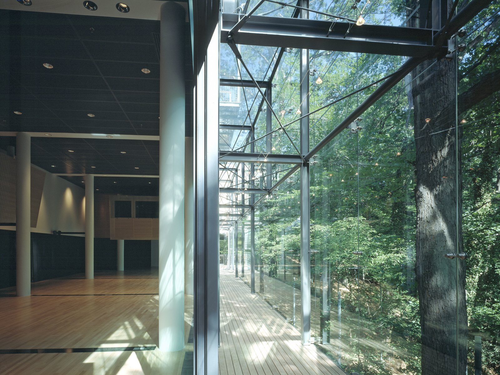 The building's generous use of glass connects it with the natural setting of nearby Rock Creek Park.  Photo 6 of 6 in Finnish Embassy in Washington Receives Platinum LEED Certification