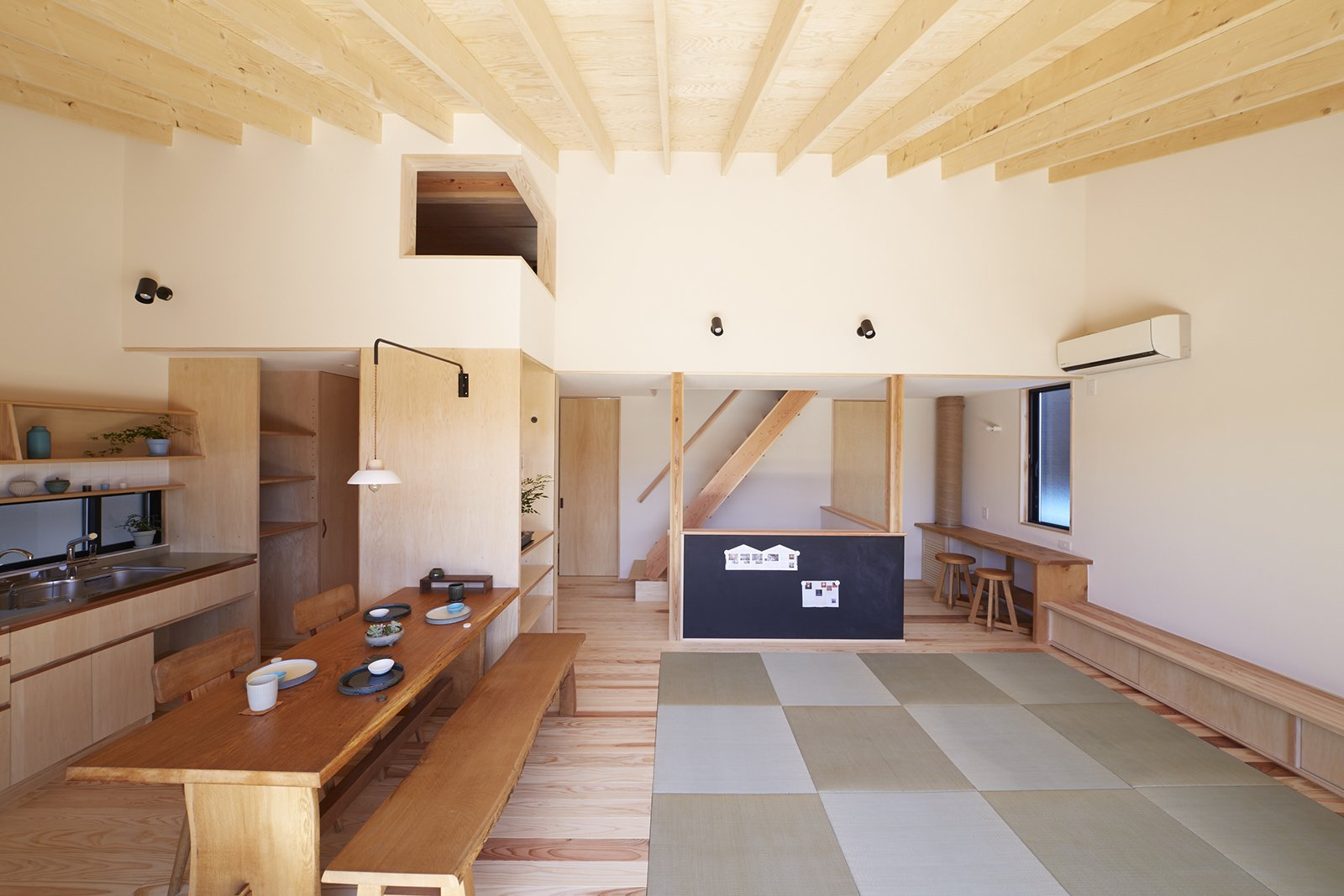 The tatami mats are a favorite play space for Takuma .  Yanagisaki House by Caroline Wallis from House of the Week: This Japanese Gem Has Some Serious Storage Tricks Up its Sleeve