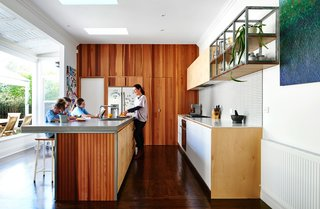 Skype Lets a Family Renovate Their Kitchen 3,700 Miles Away - Photo 1 of 3 - Australian expats Carla and Paul Tucker tasked designer Dan Gayfer with expanding their Melbourne bungalow without adding any square footage. Local zoning rules forbade them from enlarging the home's footprint.