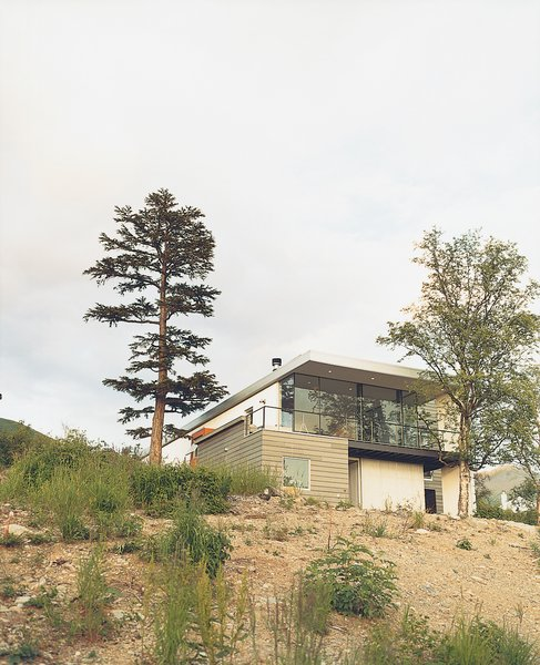 Though the Cook Inlet is nearby, from the street, the house's simple facade gives little indication of the sights that await a visitor.