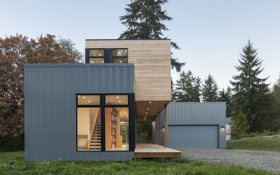 A prefab home on washington 39 s puget sound collection of 11 for Prefabricated homes seattle