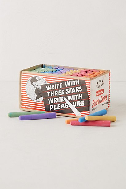 Three Stars Chalk Set via Anthropologie $78.00  Doodle away with this multi-color chalk set!  Holiday Gift Guide: The Mini Modernist  by Jami Smith
