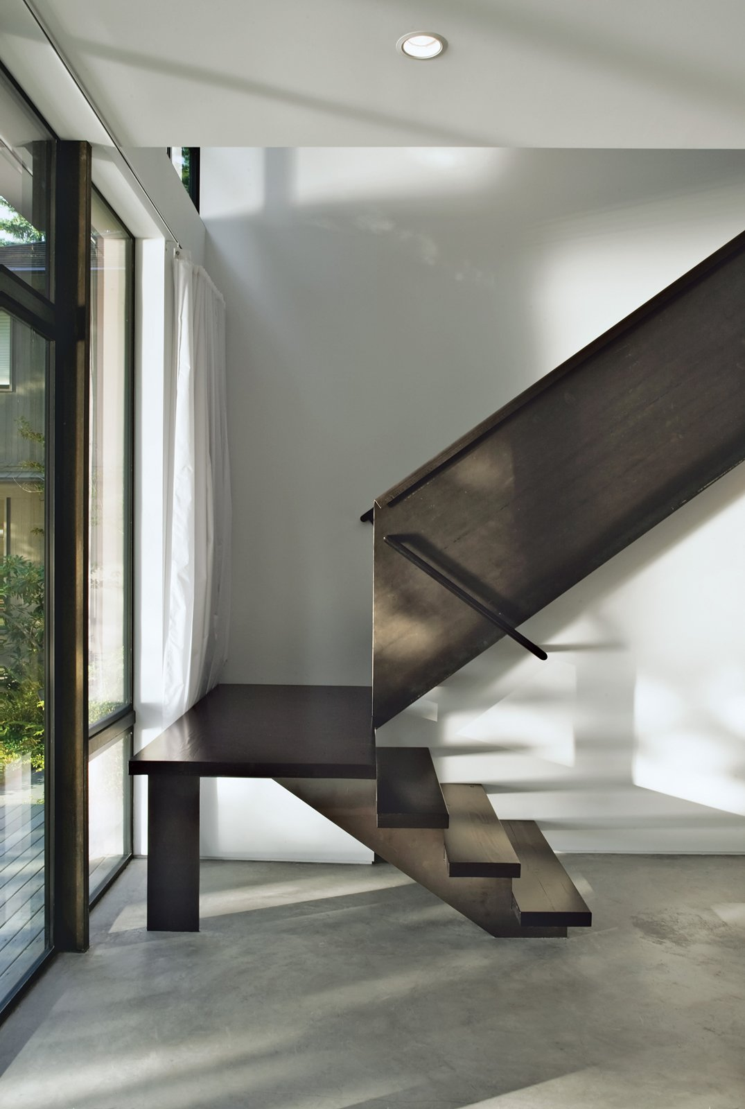 Steel allowed Kunding to be playful with the staircase's form. Tagged: Staircase.  190+ Best Modern Staircase Ideas by Dwell from Staircases We Love