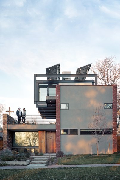The Damianos' house, located in Denver's Highland neighborhood, runs completely on solar energy.
