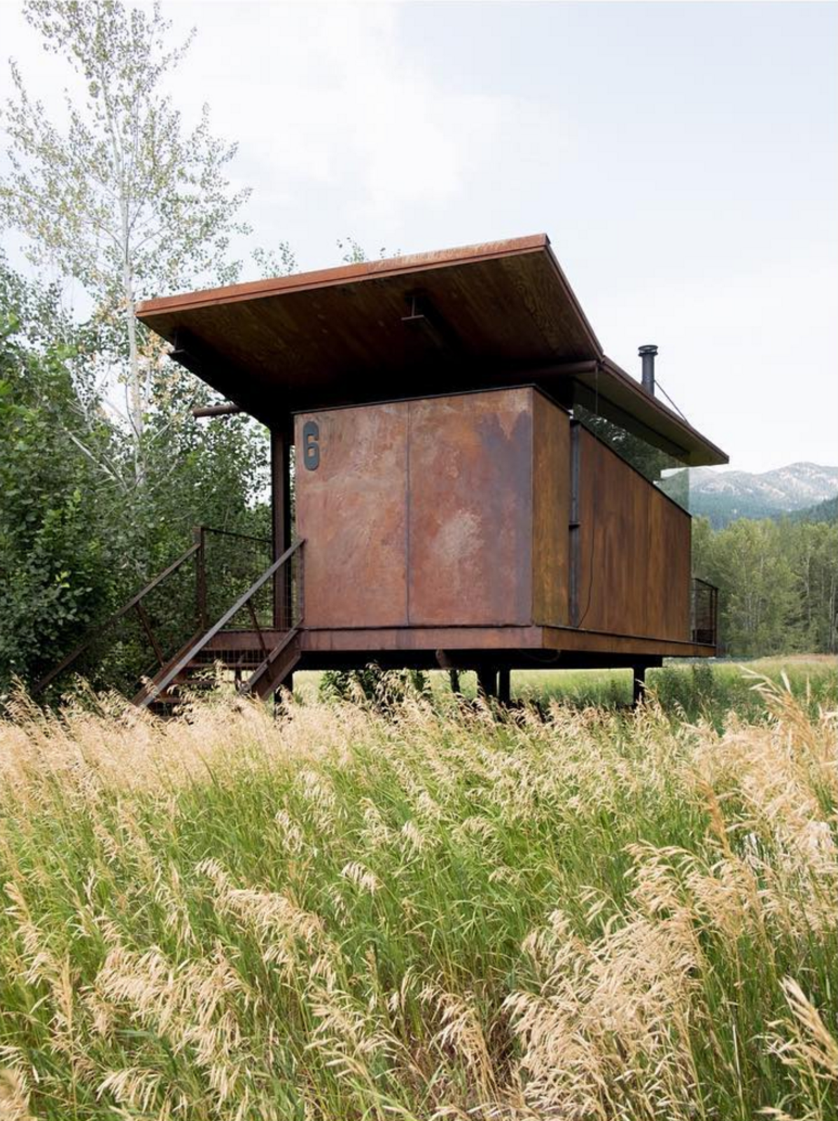 Rolling Huts by Olson Kundig  There are a lot reasons to follow Olson Kundig on Instagram. One of them is their seminal Rolling Huts project. Tagged: Exterior, Cabin Building Type, Metal Siding Material, and Butterfly RoofLine.  Photo 81 of 101 in 101 Best Modern Cabins from Like, Follow, Comment! We Love These Homes on Instagram