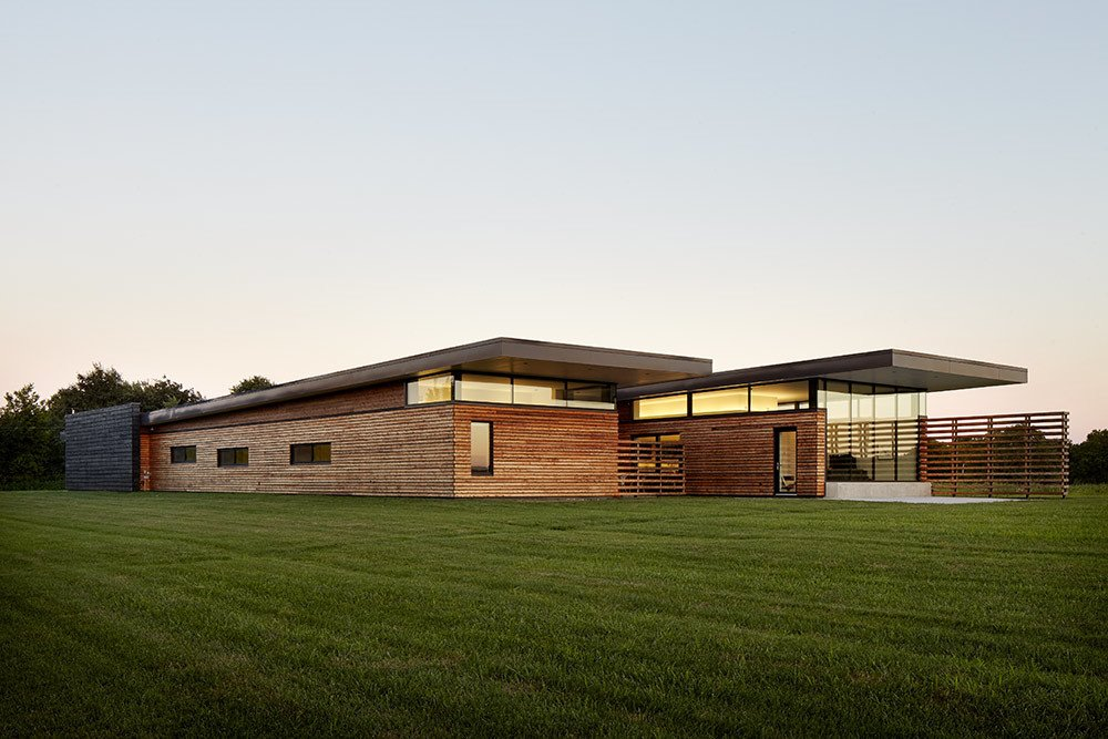 El Dorado Inc designed this 4,500-square-foot house for Dave Byers and his family. Byers is a structural engineer who has collaborated with the firm on multiple projects. The residence is located in the prairie southeast of Kansas City.   20 Best Modern Homes from the Midwest by Erika Heet from The Missouri Prairie Has Super Modern Architecture, Too!