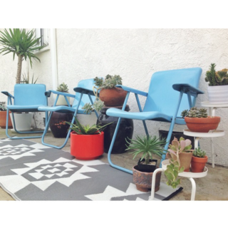 Photo of the Week: DIY Backyard with Blue Chairs and Succulents - Photo 1 of 1 -