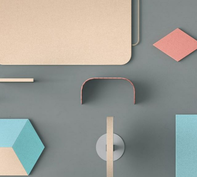 The designs might be minimal but the color palette is friendly.