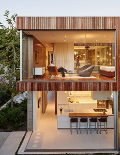 "For the Highest Green Honor, One Couple Pulls Out All the Stops - Photo 1 of 12 - The house that Fleetwood Fernandez Architects designed for contractor Mehran Taslimi and his wife, Laila, embraces its surroundings. ""They wanted doors that they could just throw open,"" designer Hunter Fleetwood says of the retractable wall system from Vitrocsa."
