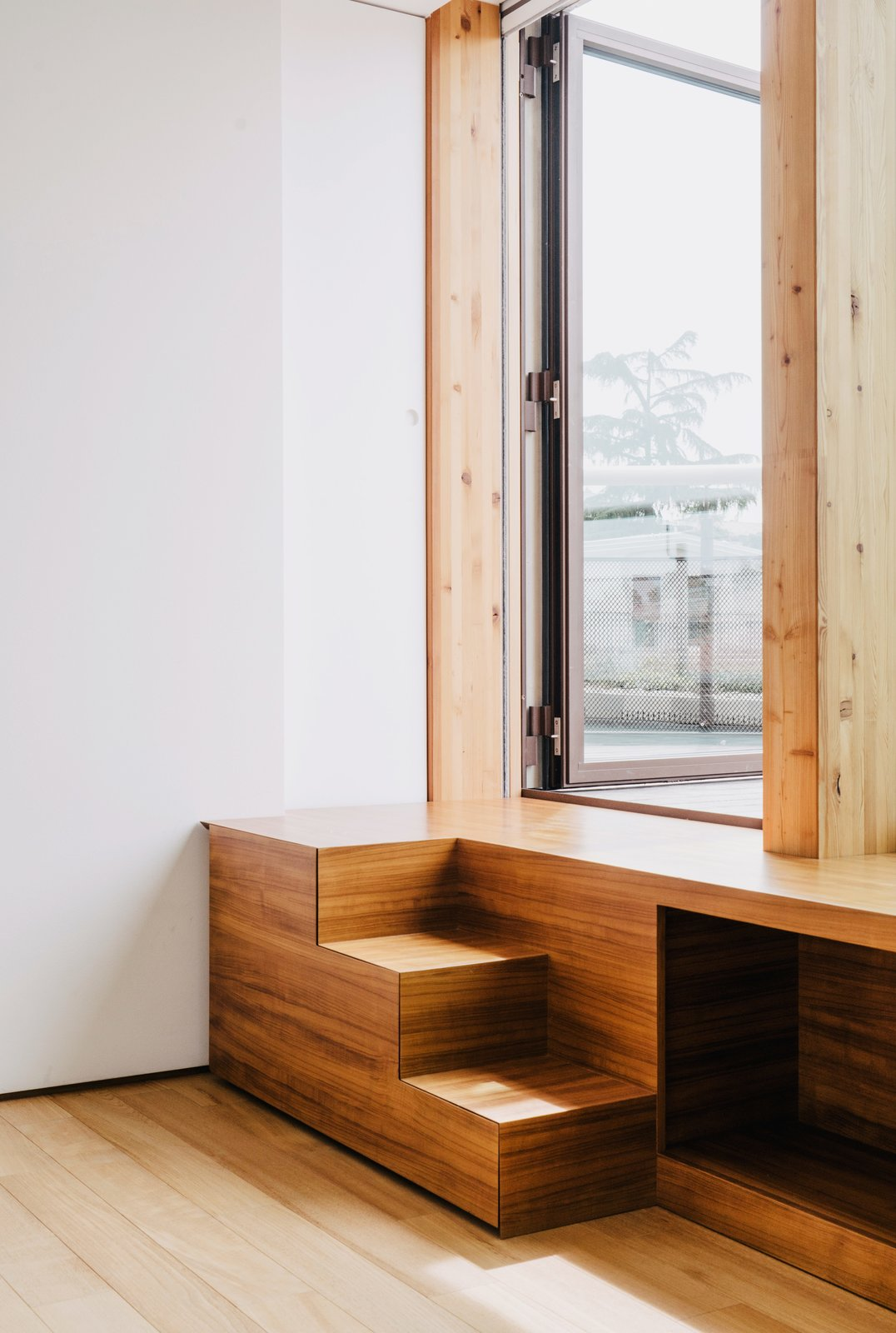 Stairs made of teak lead from the guest bedroom to the roof garden.  190+ Best Modern Staircase Ideas by Dwell from Could You Share Your Dream Home?