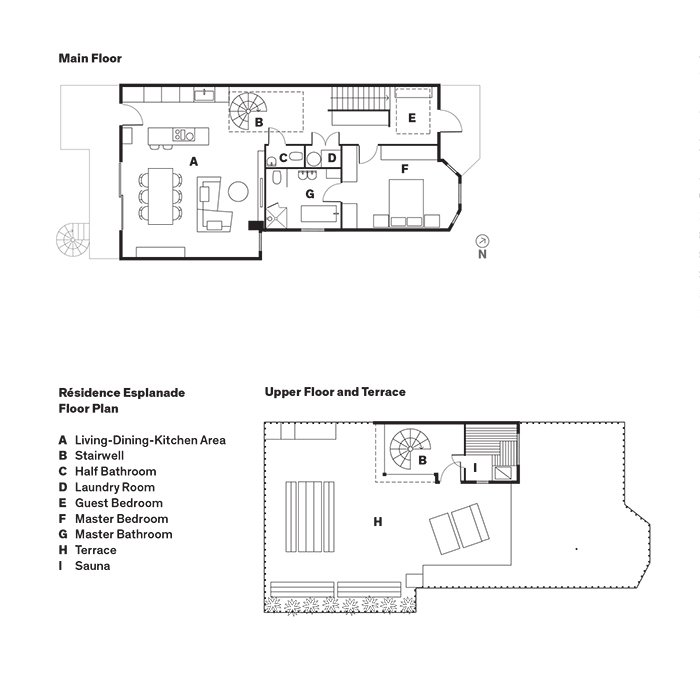 Résidence Esplanade Floor Plan  Scandinavian by Sikhumbuzo Mbatha from Scandinavian Style Revives This Montreal Home