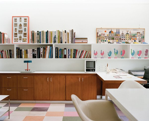 The playroom later became Xenia's office. Photo 18 of Miller House in Columbus, Indiana by Eero Saarinen modern home