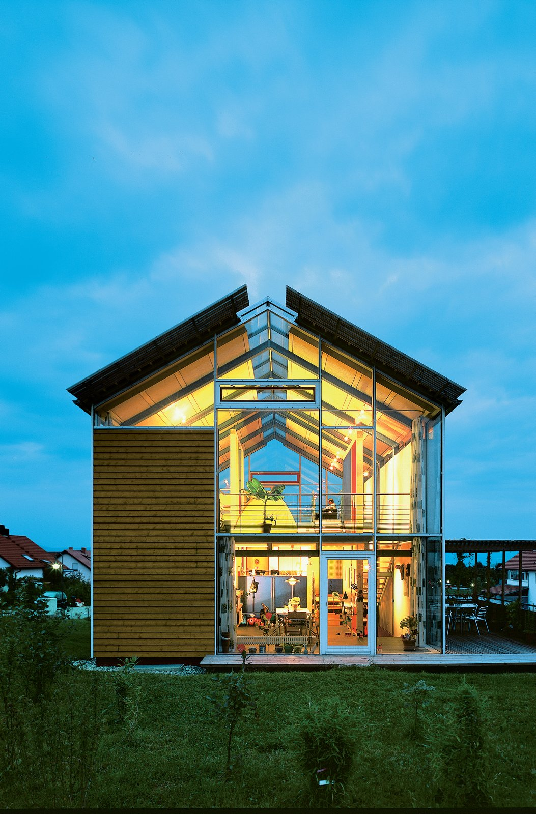 Photo courtesy Reinhold Andris Office, Walddorfhäslach. Tagged: Exterior, House, Wood Siding Material, Metal Siding Material, and Glass Siding Material.  Photo 1 of 1 in Steel Framed Split-Level Home in Germany