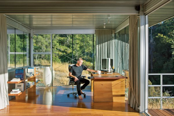 Ohm enlisted Ohio Design to fabricate the fleet of minimalist, Donald Judd–inspired furniture, including a desk and bookshelf in his home office and the sofa and coffee table in his living room. Photo 4 of Mayacamas Residence modern home