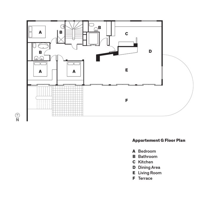 Appartement G Floor Plan  Photo 14 of 17 in Modern Home Furnished With Flea Market Finds