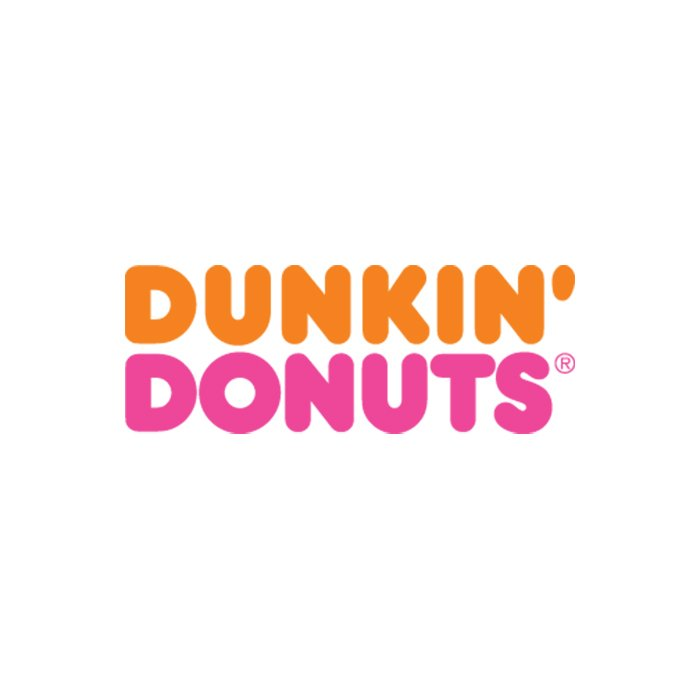 For the agency Sandgren & Murtha in 1975, she came up with a supergraphic logo for Dunkin' Donuts.