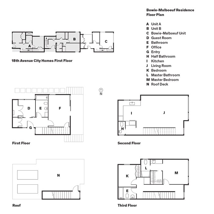 Dwell green and affordable structure fits three families for Affordable house plans for large families