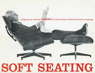 "Eames Lounge Chair Porn - Photo 39 of 53 - A 1959 advertisement for the Lounge set emphasizes its comfort. Another ad from the era reads ""A good chair, nowadays, is hard to find,"" and suggests that it's ""the only modern chair designed to relax you in the tradition of the good old club chair."" Charles took on the project because he was ""fed up with the complaints that modern isn't comfortable."""