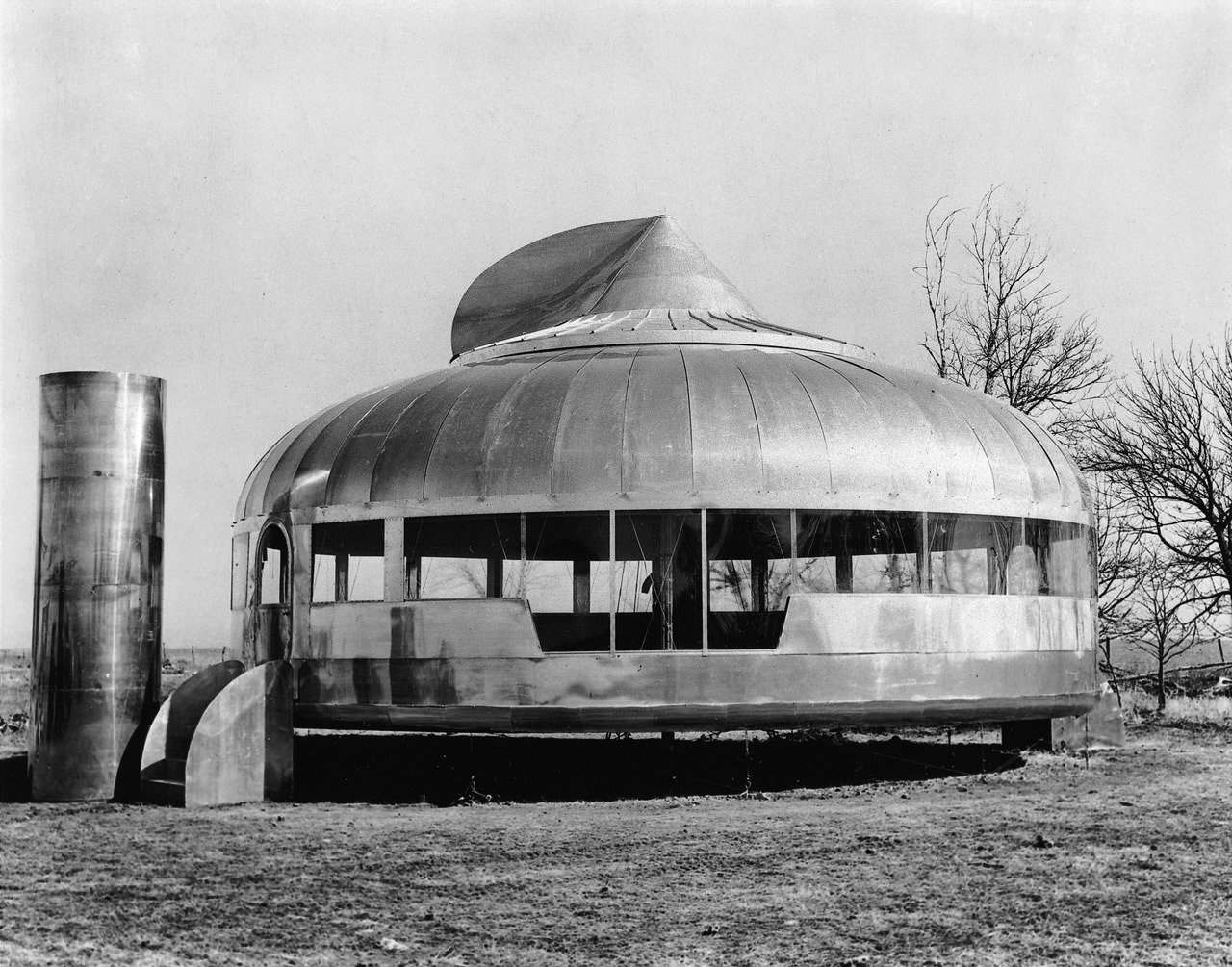Buckminster Fuller, Dymaxion House, 1945–1946.  Midcentury Homes by Dwell from Historical Prefab Projects