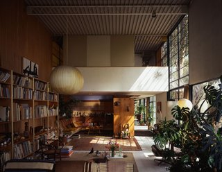 10 Inspiring Quotes from the Eames Family - Photo 3 of 3 - The living room as it is best known, shot in 1994. The light from the window illuminates the tumbleweed the couple picked up on their honeymoon drive from Chicago to Los Angeles. Photo courtesy Tim Street-Porter.