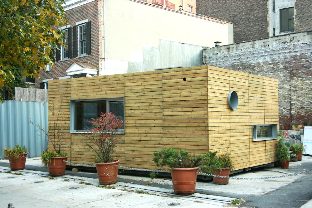 Each MEKA home arrives via truck nearly complete. From there, it can be built in a matter of days.  20 Ideas On What You Can Do With Old Shipping Containers by Luke Hopping from Inexpensive, Easy-Assembly Shipping Container Home