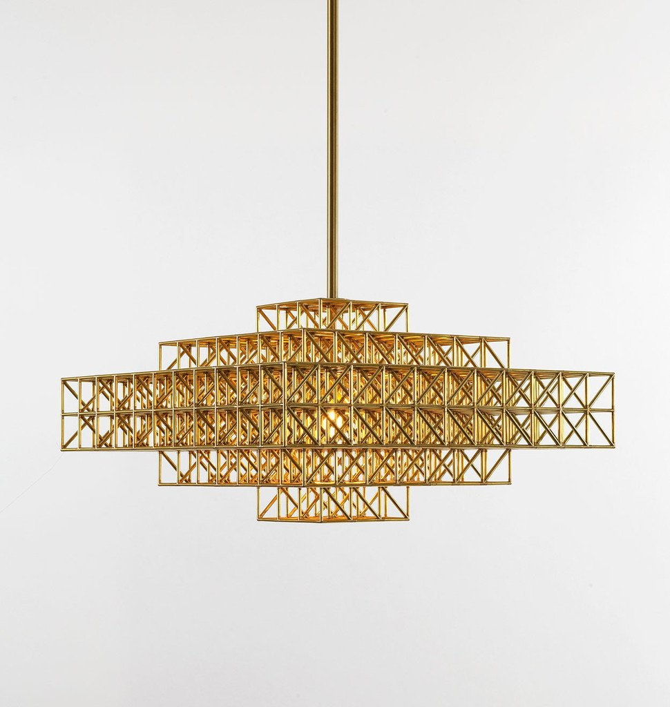 Philippe Malouin (a Dwell Young Gun from 2013) designed the Gridlock series for lighting manufacturer Roll & Hill.  60+ Modern Lighting Solutions by Dwell from Grids Are the Zeitgeisty Graphic Motif of 2015