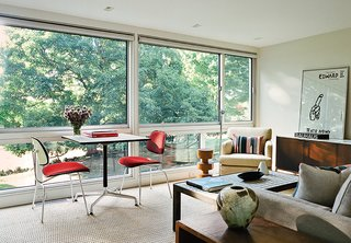 These 5 Transformations Show Why Challenging Renovations Are Worth It - Photo 2 of 5 - In 2009 Alan Orenbuch and Bryan O'Rourke purchased a property with two existing structures by Harvard Five architect John M. Johansen, and they turned one, a dilapidated and cluttered shed, into a light-filled retreat for guests.